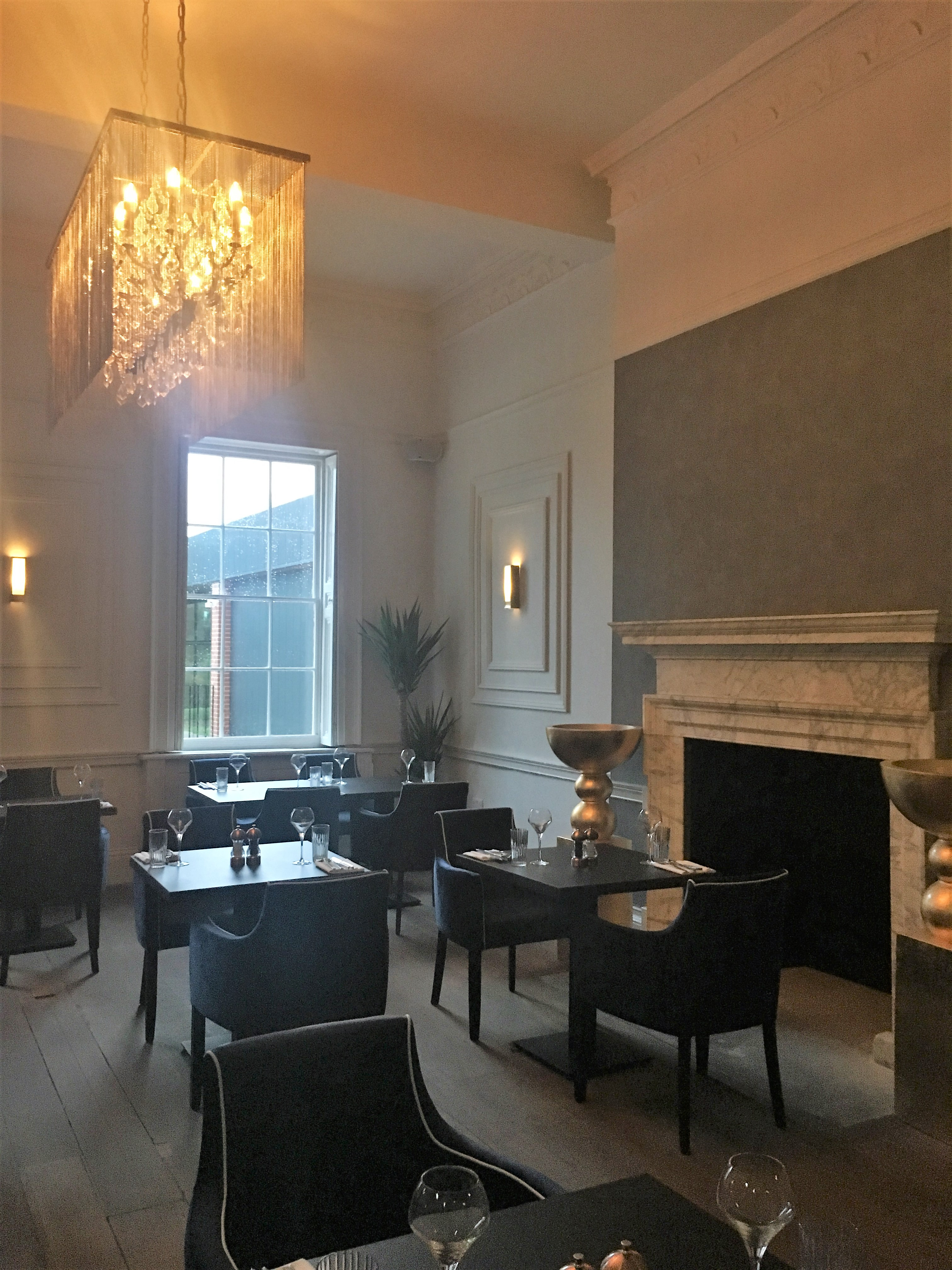 Fine fare at The Black Iron Resturant, Winstanley House The Restaurant Room