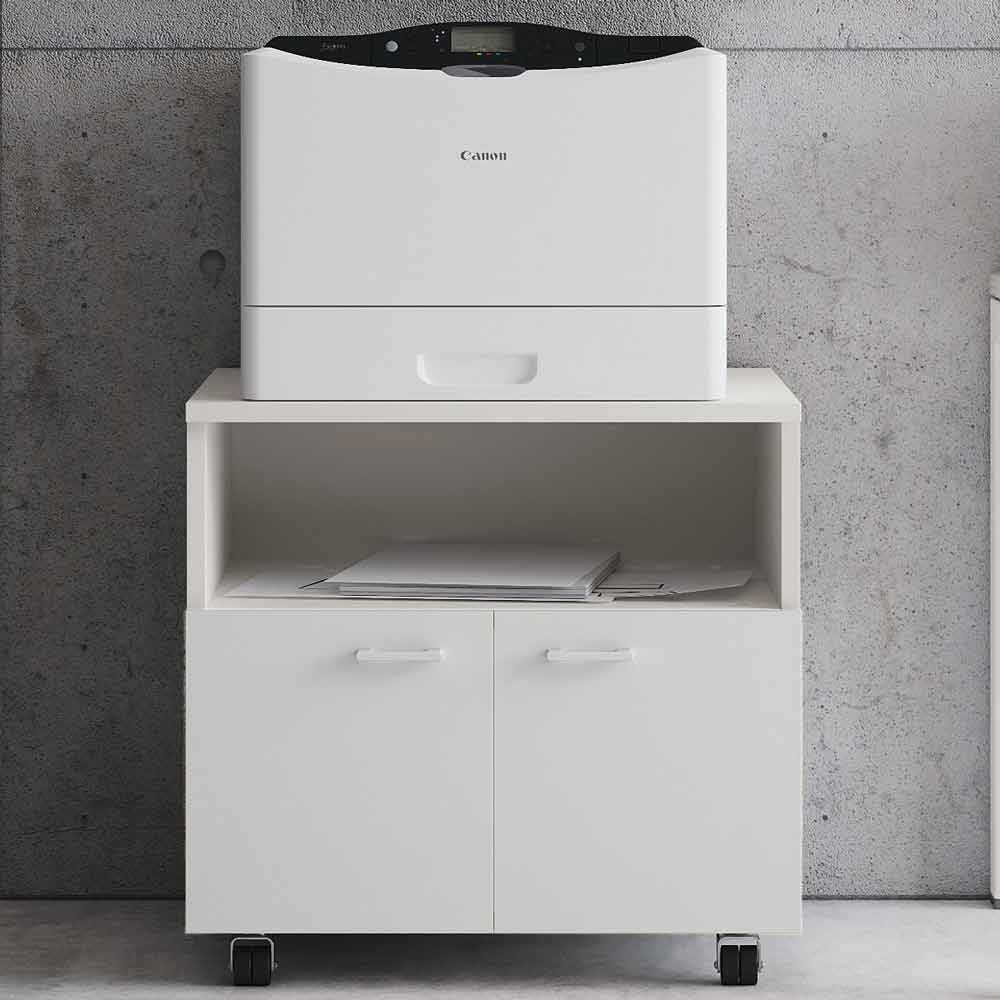 meuble pour imprimante avec niche en bois melamine evo