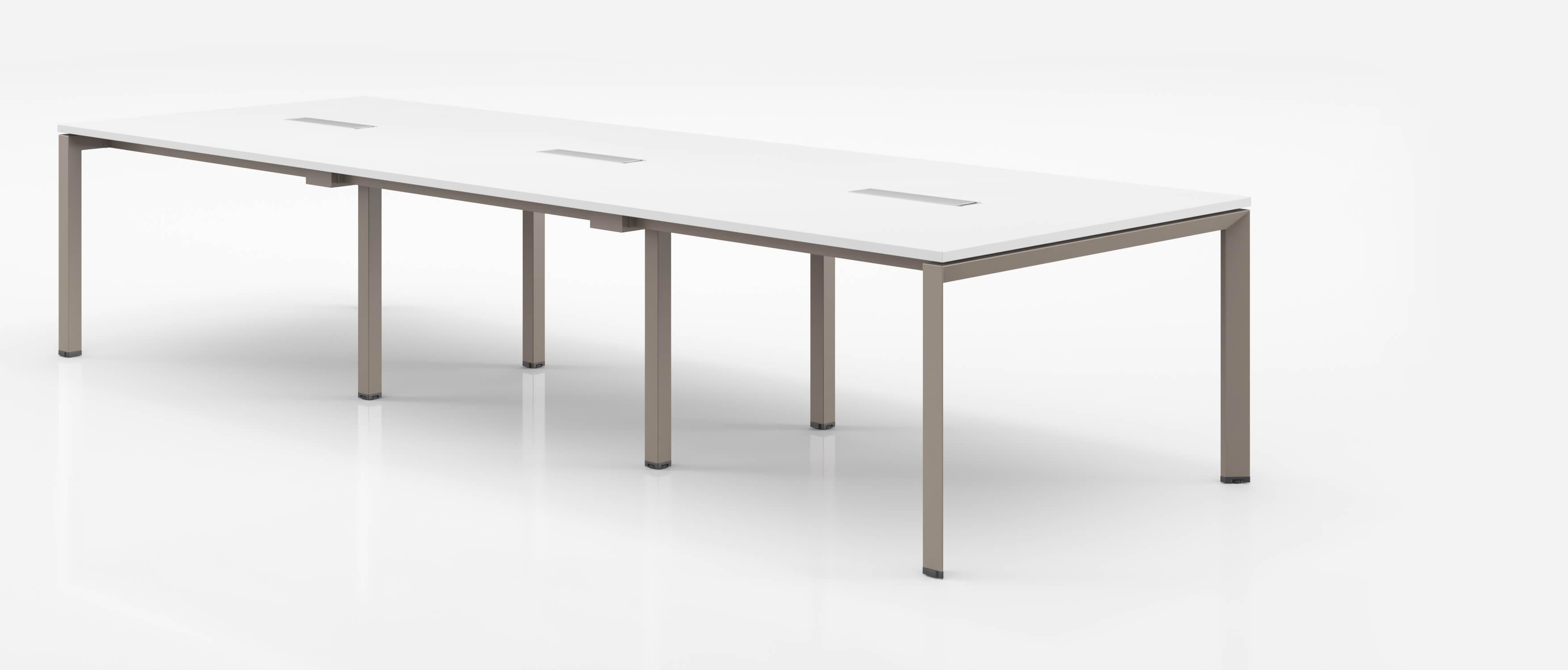 table de reunion 12 a 16 personnes plateau en bois melamine adri