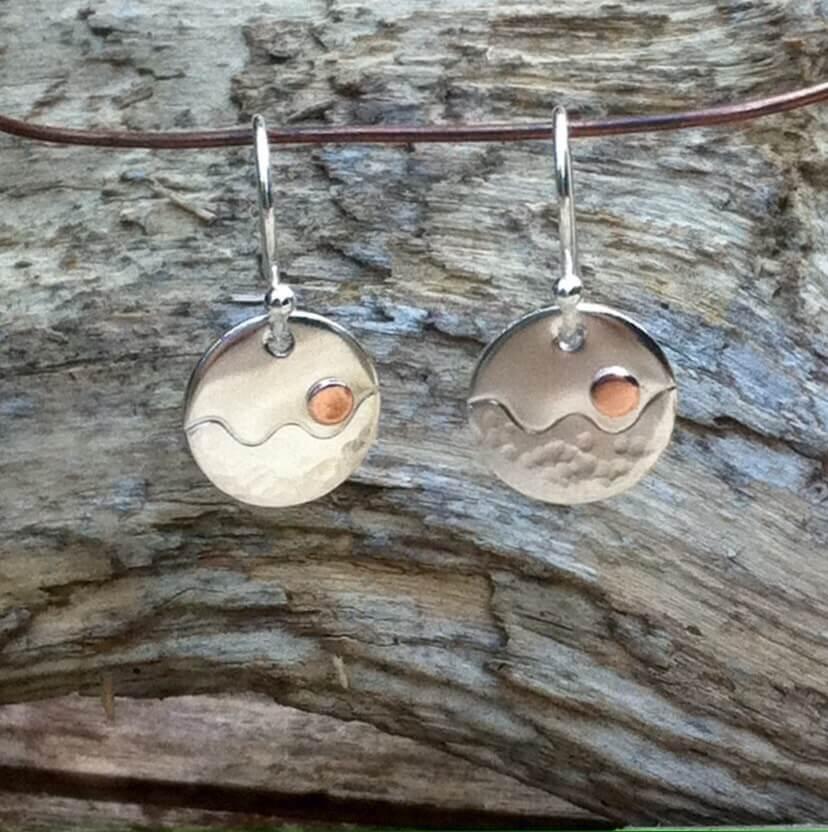 Sunset drop earrings