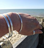 ripples and driftwood bangles