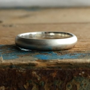 4mm d-shaped recycled silver ring