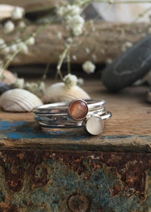 Sun and Moon Stacking rings