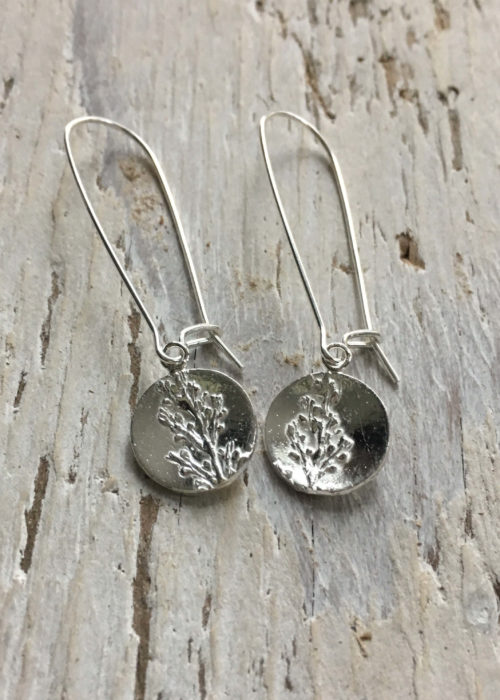 sargassum seaweed long drop earrings
