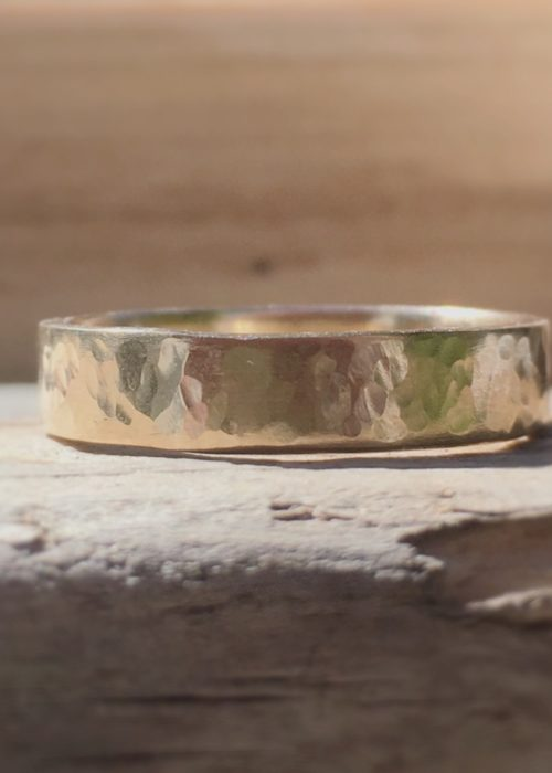 Môr - recycled gold band ring