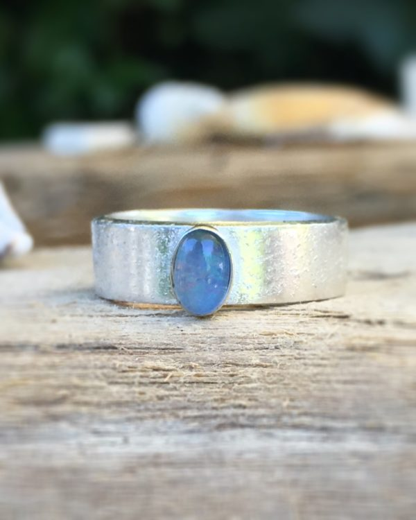 sea & sand opal ring