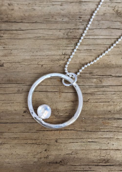 Moon on the water ring pendant