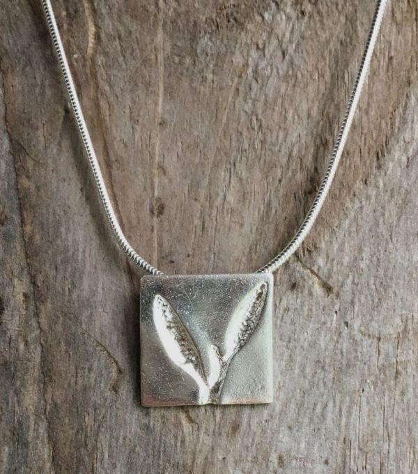 sea oak square pendant