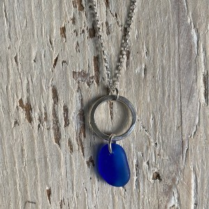 Cobalt blue sea glass