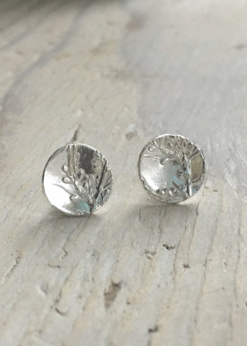 Sargassum Seaweed Stud Earrings