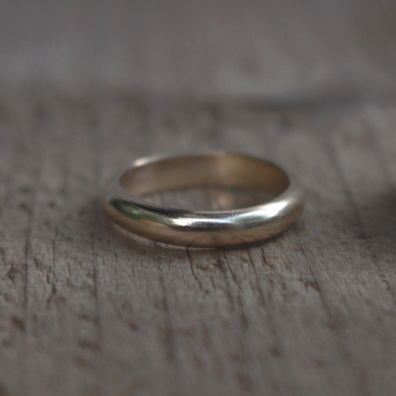 Am Byth recycled gold ring