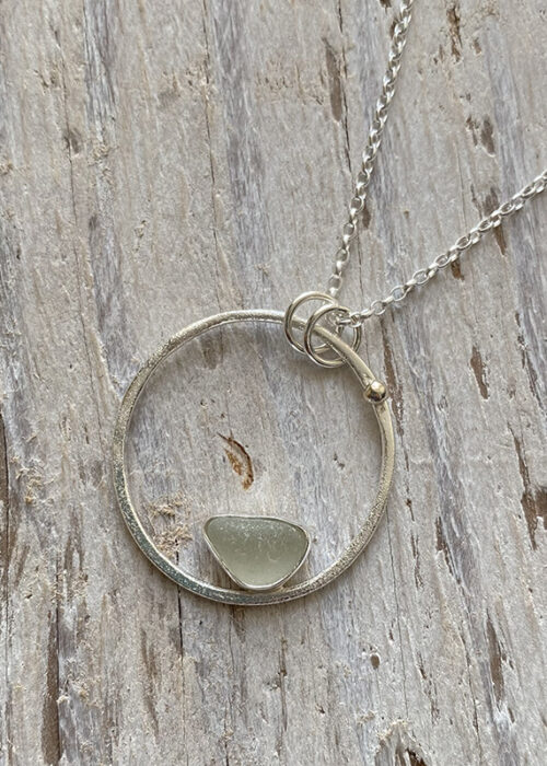 pear sea glass pendant