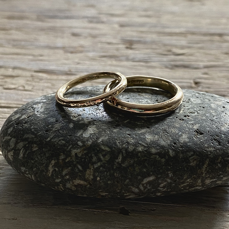 Recycled gold wedding rings 9 Carat