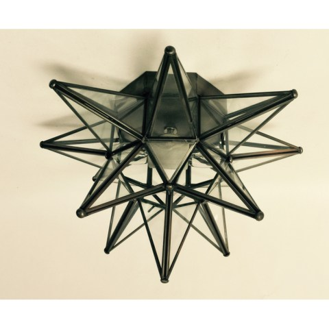 Glass Moravian Star Ceiling Light Wall Sconce Glass Moravian Star Bronze Ceiling Light Wall Sconce