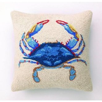 6 Plastic Blue Crab Replica