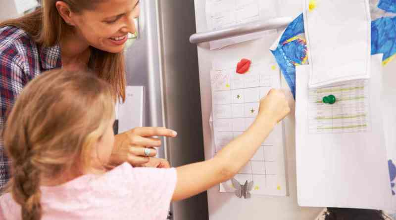 Mother-And-Daughter-Putting-Star-On-Reward-Chart-1