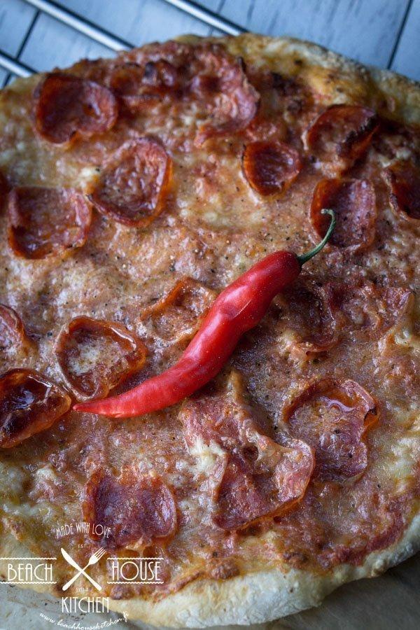 chili salamipizza