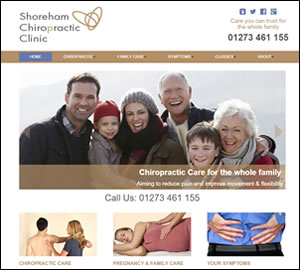 Shoreham Chiropractic Clinic website by Beach Hut Studio