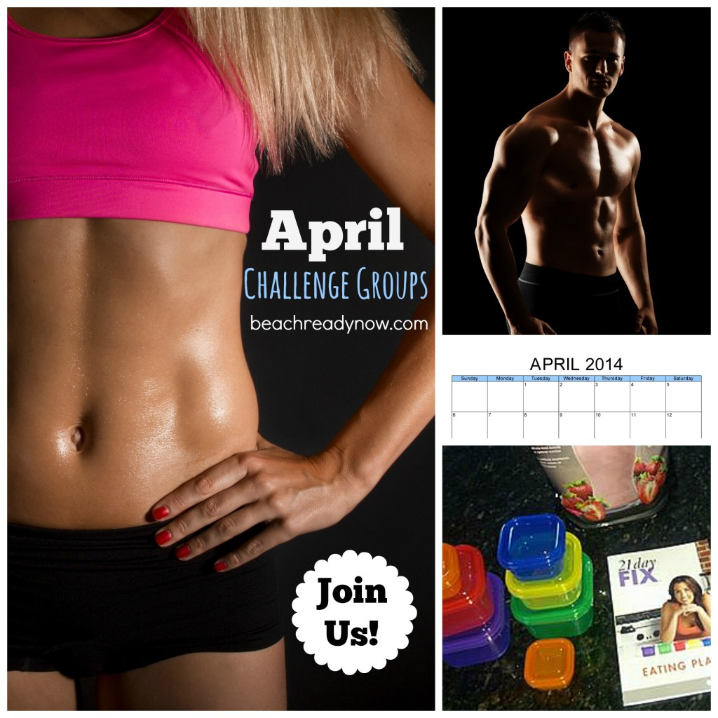 April Challenge Groups - Beach Ready Now