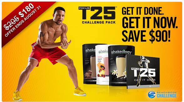 Focus T25 Challenge Pack Sale August Beachreadynow.com