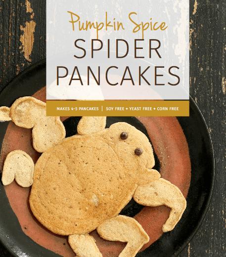 vegan halloween recipes - spider pancakes