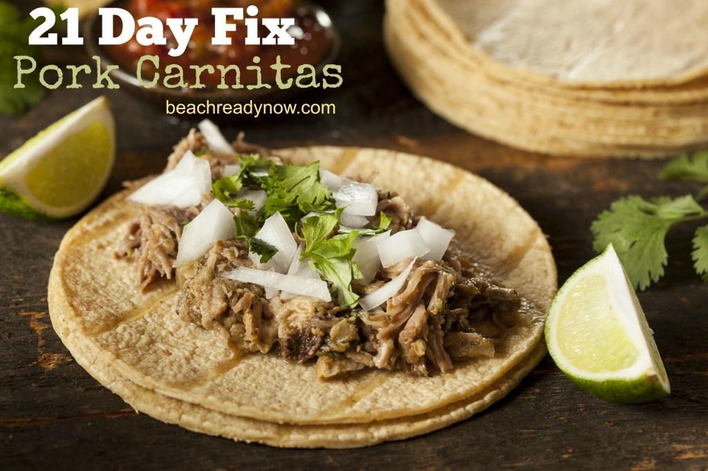 21 Day Fix Pork Carnitas for the  Crock Pot