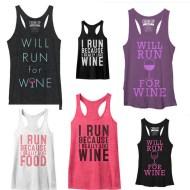 Liquid Motivation, Anyone?  Run for Wine Tank Tops on Sale