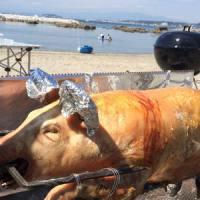 七輪BBQで仔豚の丸焼き レシピと焼き方