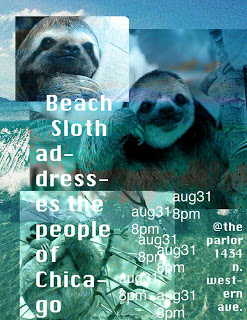 Beach Sloth Addresses The People of Chicago (and the Internet)