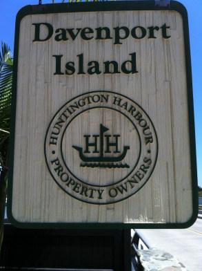 Davenport Island Welcome Sign
