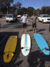 Captain Billy and The Author Getting Ready To Surf