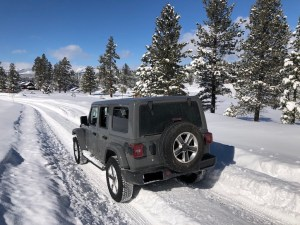 CoolToys 2019 Wrangler's environmental impact evaluated on long road trip to Tahoe in winter.