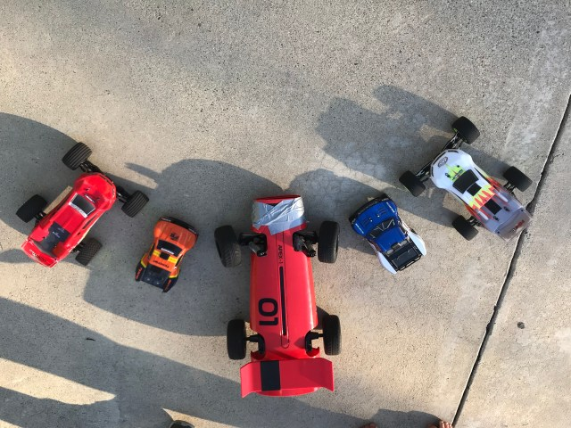 RC Cars Lined Up