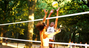 Two player volleyball NYC