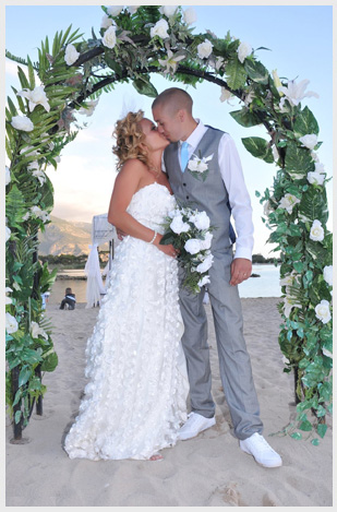 Wedding for a British couple married on a beach in Turkey