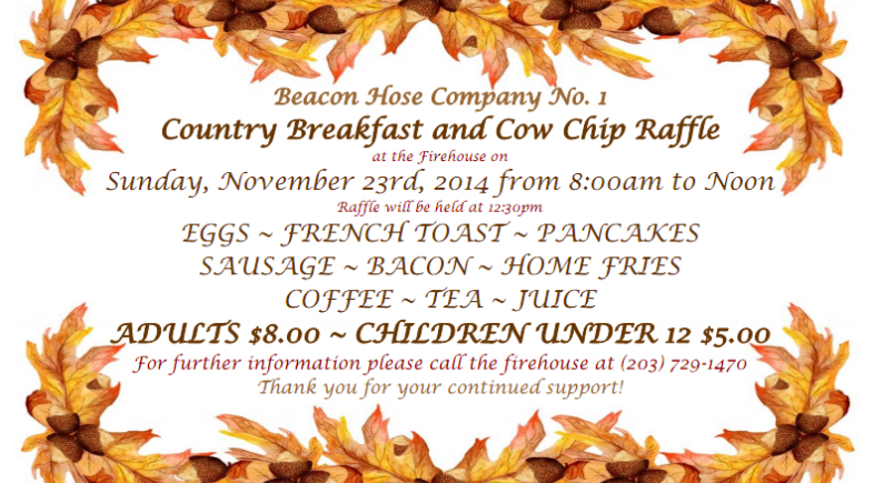 Cow Chip Raffle and Breakfast Set for Nov. 23