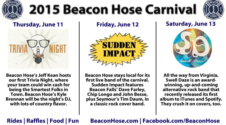 Beacon Hose Announces Carnival Entertainment Schedule