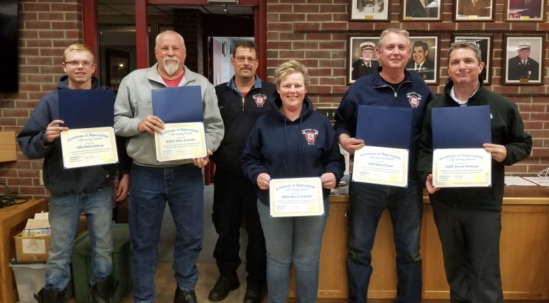 Six Honored for Cardiac Save in September 2018