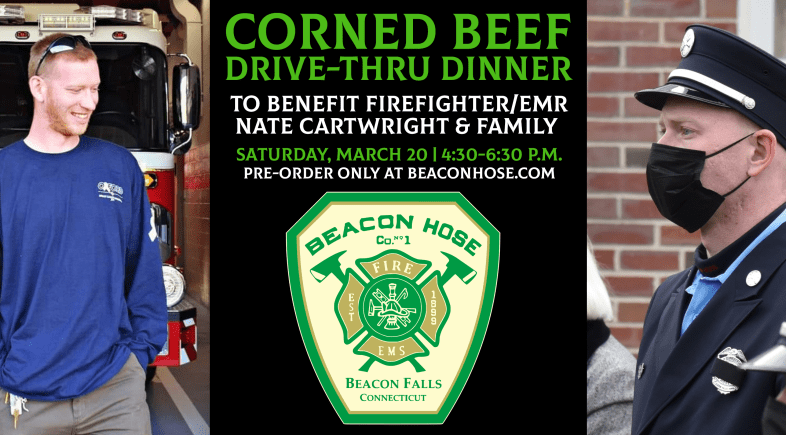 BHC Corned Beef Dinner to Benefit Firefighter Nate Cartwright