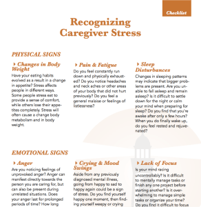recognizing signs of caregiver stress