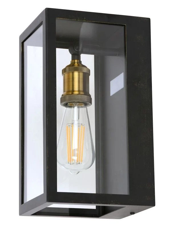 southampton 1 light small wall sconce with microwave sensor in antique black