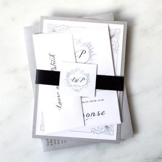 Custom Classic Love Wedding Invitations
