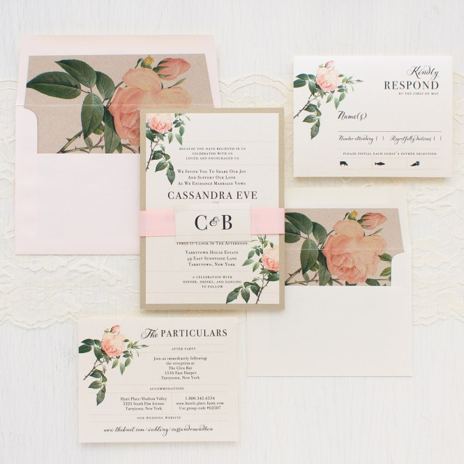 Ivory Blush Wedding Invitations