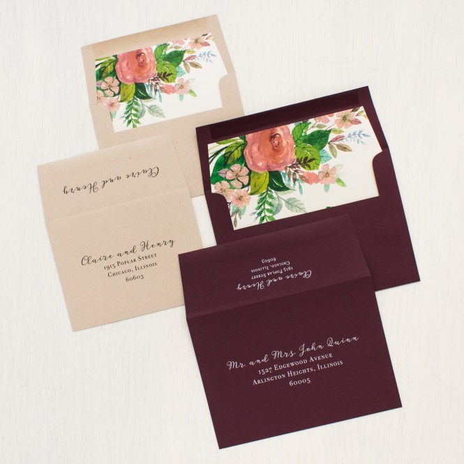 Mauve Fl Wedding Invitations Burgundy Beacon Lane