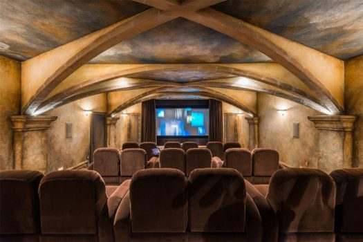 homes with theaters