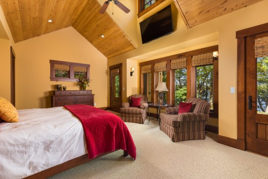 rustic master bedroom suite