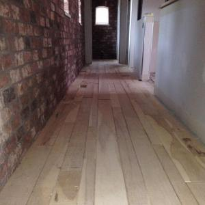 Hickory floor in long hall