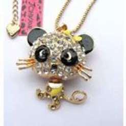 Betsey Johnson Black-eyed Cat Pendant