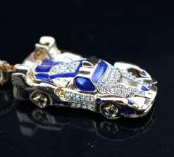 Betsey Johnson Blue Car Pendant