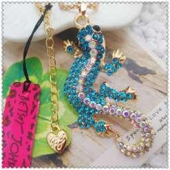Betsey Johnson Blue Lizard Pendant